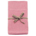 Mini Gingham  Coral tea towels pair